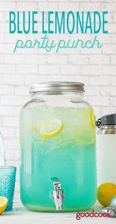 Blauer Limonaden-Party-Durchschlag