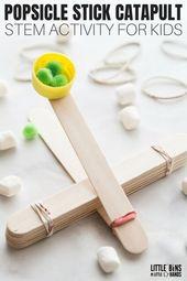 Popsicle Stick Catapult for Youngsters STEM Exercise