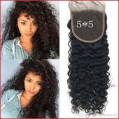 French Curls Hair 136534 Virgin Hair Closures 5 5 Inch Indian Deep Wave Lace Closures - #136534 #closures #curls #french #indian