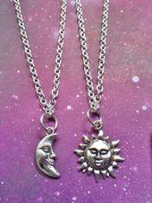 Sonne und Mond Bester Freund Seelenverwandte Halsketten. – need