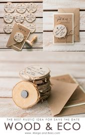 Invitations  Rustic save the date
