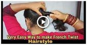 Very Easy Way to make French Roll/French Twist/French Bun Hairstyles for Shortmedium and Long Hair #hairstyles - October 20 2019 at 04:43AM