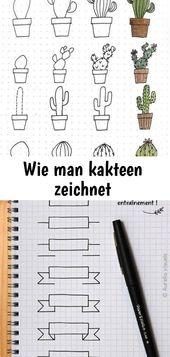 Wie man kakteen zeichnet