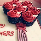 Rosette Cupcake. Fudge Cupcakes mit Buttercreme Rosette – #Buttercreme #Cupcake …
