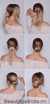 Hairstyling: Ein festliches Brötchen für den Abschluss – Beauty Tips & Tricks – Frisur