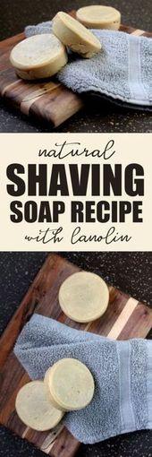 Rezept für natürliche Rasierseife mit Lanolin für eine reibungslose, umweltfreundliche Rasur