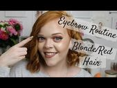 My Eyebrow Routine | For Blonde or Red Hair | Anastasia Beverly Hills, N…   #y…