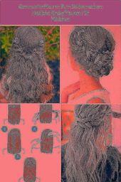 Communion hairstyles children's hairstyles girls half-open hair flowers #frisuren abib …, #abib #B …