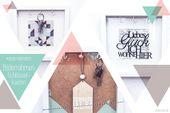 Geschenk zum Einzug: Bilderrahmen Schlüsselkasten #dreimalanders // Werbung
