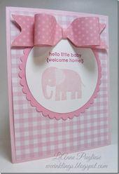 Baby Cards LeAnne Pugliese WeeInklings Zoo Babies Stampin Up Baby Card
