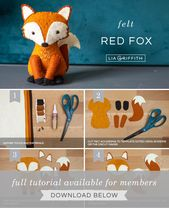 Fühlte mich rot Fox Stuffie DIY Tutorial – Lia Griffith