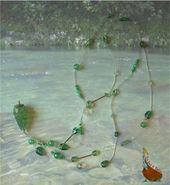 Collier Sautoir Perles Tendresse Lumiere Au Fil De L Eau Vert Clair Transparent Blanc Collier Par La Nef Perles Collier Sautoir Collier Sautoir Perles