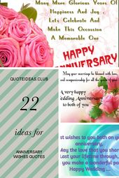 22 Ideas for Anniversary Wishes Quotes