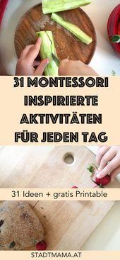 Spielerisch Lernen | Montessori Übungen im Alltag + Freebie mit Ideen zum Ausdrucken