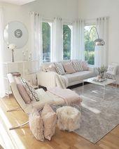 Helle Wohnzimmerideen; gemütliche Wohnzimmerdekor…