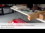 How to Build Acoustic Panels for Your Home Studio.  This video is great for anyo…