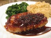 Balsamic and Cherry Pork Chops