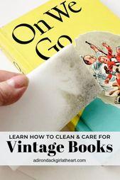 So reinigen und pflegen Sie Vintage-Bücher – CARING FOR VINTAGE & ANTIQUES