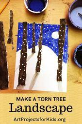 Machen Sie eine zerrissene Baumlandschaft