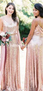 Alluring Spaghetti Straps Jewel Back Sequin Bridesmaid Dresses, VB02867 Alluring Spaghetti Straps Jewel Back Sequin Bridesmaid Dresses, VB02867 – Bridesmaid dresses