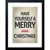 Photo of Poster Frohe Weihnachten Die saisonale Truhe Format: Rahmen aus Buchenholz, Größe: 40 cm H x 30 cm