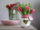 Tischdekoration mit Tulpen – festliche Tischdekoration mit Frühlingsblumen   – deko