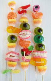 Brochetas de chuches – Süßigkeiten und Süßigkeiten für Kinderfeste