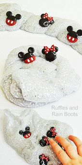 DIY Slime This easy Mickey Mouse slime is a simple glitter slime recipe perfect for young ...