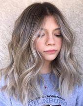Mittlere aschbraune Haarfarben für 2019  – Schminke und Haare –  Mittlere aschb… – My Blog