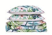 2 Piece Twin XL Oceanfront Resort Tropical Bungalow Comforter Set, White, large