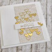 Erbschaft (selbst gekauft) Für die goldene Hochzeit habe ich heute zwei Karten gemacht …   – Hochzeitskarten