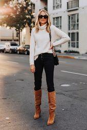 Fashion Jackson Wearing Abercrombie White Turtleneck Sweater Black Jeans Sam Ede…