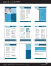 Extracted Pages Of A Request For Proposal Rfp Booklet Template Designed For A Professional Services Firm Graphicd Rfp Design Proposal Design Booklet Layout