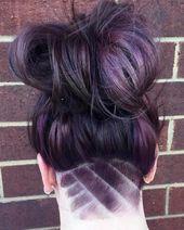 Undercut Frisur stylen muster hinterkopf frisurideen