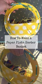 How to Make a Paper Plate Easter Basket