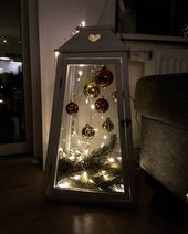 Idées de décorations de Noël en plein air de bricolage bon marché et faciles – Lanternes –
