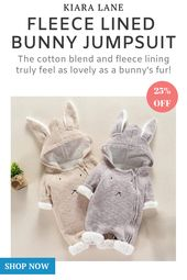Infant Bunny Woollen Fleece Jumpsuit – kiaralane.com