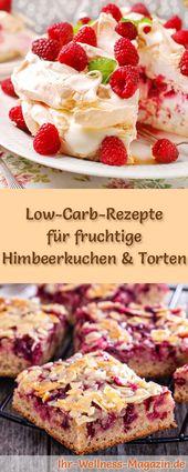 12 fruchtige kohlenhydratarme Himbeerkuchenrezepte ohne Zucker   – Low Carb Kuchen Rezepte