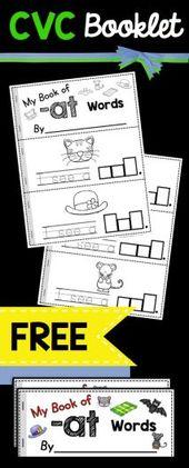 KOSTENLOSE Broschüre, die die Schüler erstellen können, um die -AT-Wortfamilie zu erhalten … – Familienaktivitäten