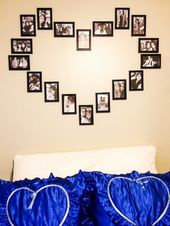 Photo wall Make your own heart – How to make a heart of photos on the wall! – New best