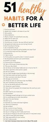 51 Positive und gesunde Gewohnheiten für ein erstaunliches Leben