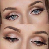 hübsches Augen Make-up für Hochzeitstag #bridalmakeup #bridalbeauty #hochzeiten #hochzeit