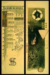 1895 calendrier magique lithographs