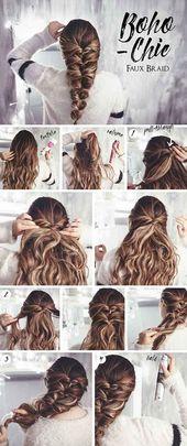 20 einzigartig schöne geflochtene Frisuren für Mädchen  #einzigartig #frisure… – Frisuren Bob