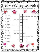 Valentinstag Gratis: Alphabetisierungsrätsel zum Valentinstag   – valentines day