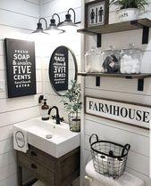 Rustikales individuelles Waschtisch-Badezimmer, Po…