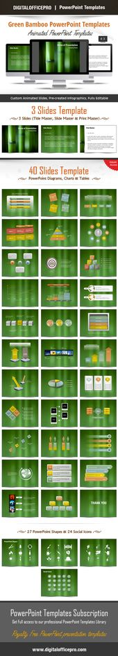 Bamboo 01 - PowerPoint Templates Template - new jungle powerpoint template