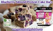 Blueberry Almond Protein Cake Bars