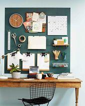 Lassen Sie sich von diesem Over-the-Desk-Pegboard-…