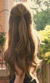 34 Süße und einfache lange Frisuren für die Schule #Einfache Frisuren